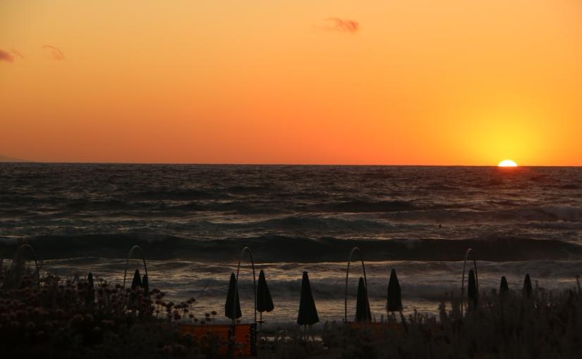 A Sardenha e opôr-do-sol